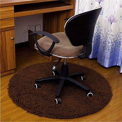 LCZMQRCLMZRQCirculair waterabsorberend vloertapijt antislip ronde mat keukendeur bureaustoel mat kleed hal veranda deurmat, koffie, diameter 80cm
