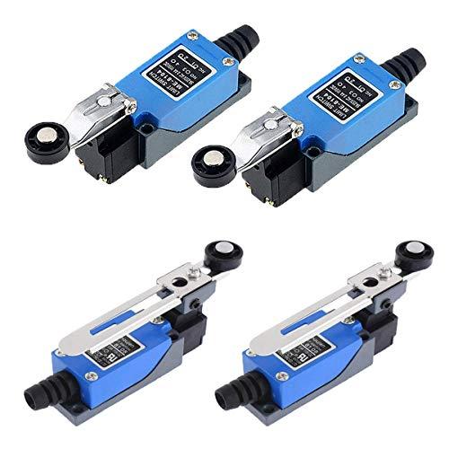 Interruptor de Límite Micro,Qiundar 4 Pcs Final de Carrera Varilla CNC Limit Switch para CA 50Hz Voltaje Nominal 380V y Voltaje DC 220V(ME8104,ME8108)