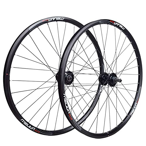 TYXTYX Bicycle Wheelset,Double Wall Wheel Set 32 Holes Quick Release V/disc Brake Mountain Bike 20/26 Inch Rotary Hub