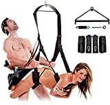 Adjustable 360 Degree Swivel Sē&x Swing for Adult Couples Body Stand with Frame Ceiling Strong Steel Triangle Spring Kit Christmas Gift