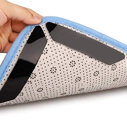 HIQE-FL Teppichgreifer Antirutsch,16 StückTeppichunterlage,Wiederverwendbar Teppich Aufkleber,Antirutschmatte für Teppich,Teppichgreifer Antirutschmatte,Anti Rutsch Teppich (schwarz)