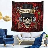 AshleySSnavely Guns N' Roses Tapestry Mural Wall Hanging Home Mural Decor Blanket Art Decor for Bedding Tapestry 59 X 59 Inch