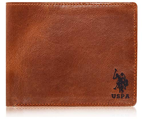 US POLO ASSN. Brown Leather Men's Wallet (UP/TEDKT5GRY01)