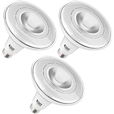 Sunco Lighting 3 Pack PAR38 LED Bulb 13W=100W, 4000K Cool White, 1050 LM, Dimmable, Indoor/Outdoor Spotlight, Waterproof - UL & Energy Star Listed