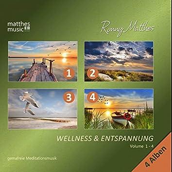 Wellness & Entspannung, Vol. 1 - 4 - Gemafreie Meditationsmusik (Inkl. Tiefenentspannung)