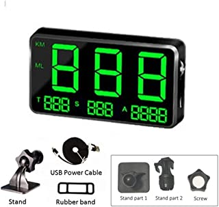 DokFin 4.5Inch Universal Car Digital GPS Speedometer, HUD Heads Up Display with Over Speed Alarm Windshield Project, TFT LCD Displayfor Bicycle Motorcycle All Vehicle