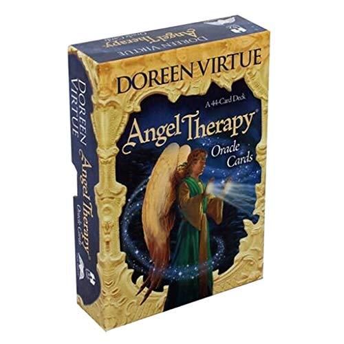 SUCHUANGUANG Angel Therapy Oracle Cards 44 Cartas Deck Tarot Juego de Mesa en inglés Completo Tarjetas Angel Therapy Oracle Cards