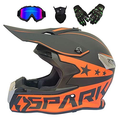 Casco de Moto, Casco de Motocross, Moto Todo Terreno ATV Motocicleta MX, Enduro, Casco de Moto para Hombre y Mujer Adulto