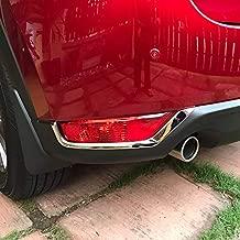 Kaodre for Mazda CX-5 CX5 2017-2021 Chrome Rear Fog Lights Lamp Cover Trim Under Eyebrow Sticker 2-pc