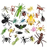 TUPARKA 27 Stück Insekten Figuren Plastik Lebensechte Spielzeug Realistische Käfer Echse Biene...