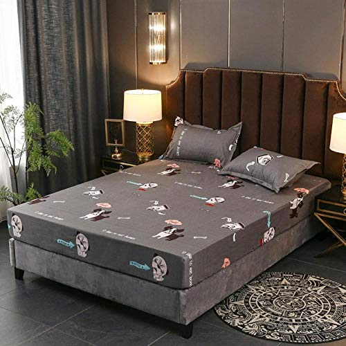 RESUXI Housse de Matelas 180x200x311.Couvre-lit imperméable brossé Respirant Doux et Confortable imperméable à la Peau-M_120 * 200cm