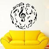 Wall Stickers Vinyl Decal Musical Decor Sheet Music Lover (ig1795)