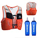 AONIJIE Lovtour Hydration Race Vest,2.5L Running Vest Lightweight Pack with 2 Soft Water Bottles Bladder for Marathoner Running Race Cycling Hiking Camping Biking (Orange(M-L))