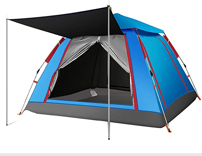 LUYION 4 Saisons Maison Dome Tent Grand Durable Imperméable Pliage Portable Outil de Cadre de Camping de randonnée en Plein air pour la fête de Famille