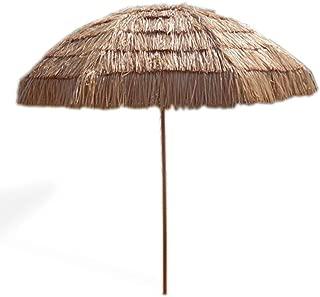 Impact Canopy 8' Hawaiian Tiki Umbrella, Pool Patio Beach Umbrella, Thatched Tiki