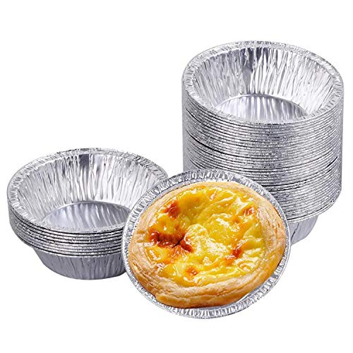 Foil Pie Dish , Pack of 30 Pie Dishes for The Oven Aluminum Foil Pie Pans Round Baking Foil Trays Pudding Muffin Cases for Small Cakes, Jam Tarts and Cakes