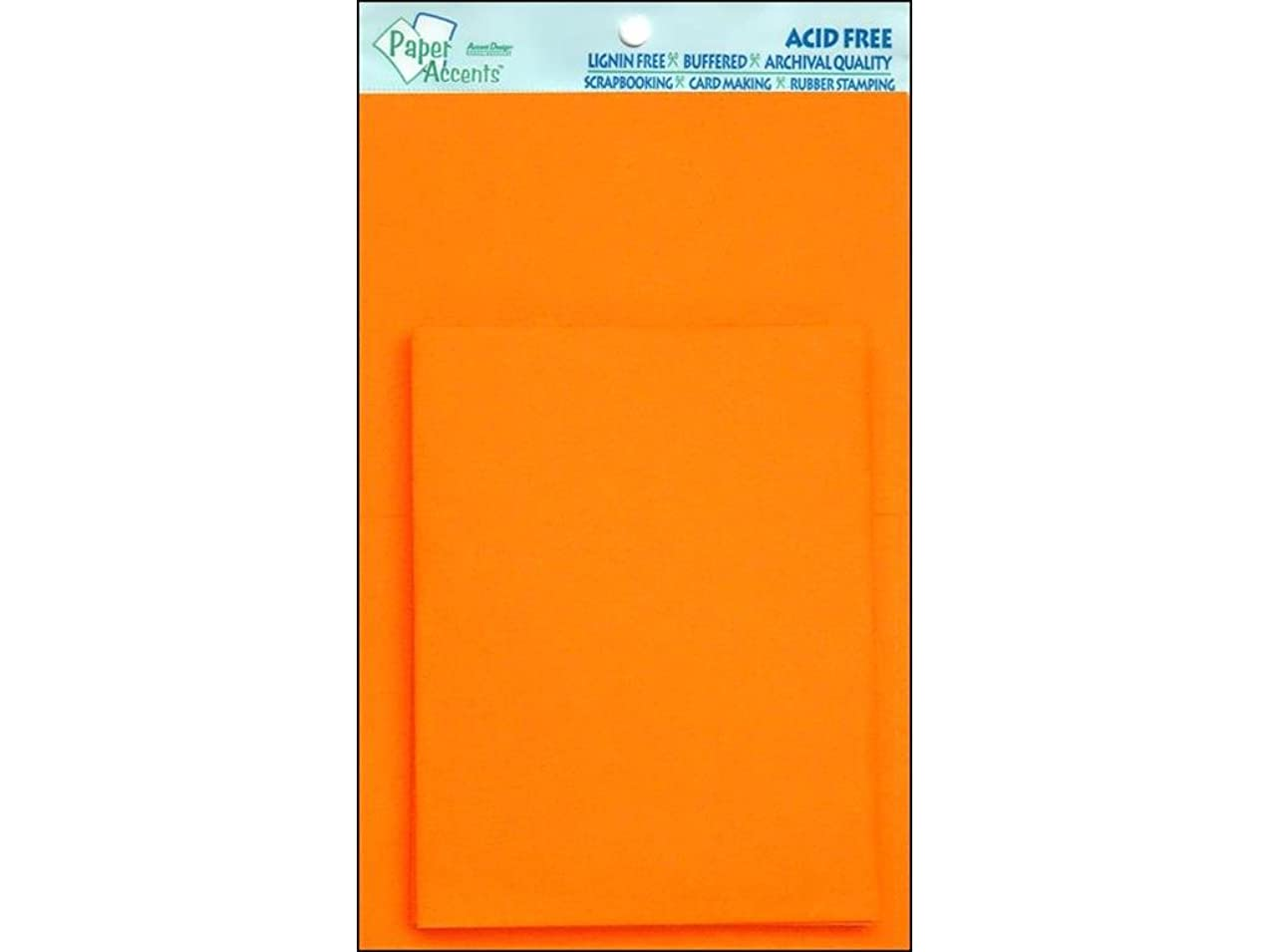 Accent Design Paper Accents ADPaperCard&Env425x5510Orange Paper