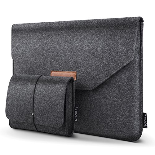 HOMIEE 13-13.3 Inch Felt Laptop Sleeve Portable MacBook Case for MacBook...