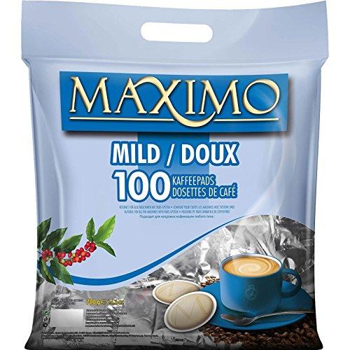 2 x MAXIMO Mild 100 Kaffeepads (2 x 100 Pads)