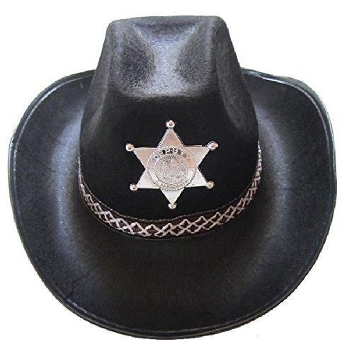 Mondial-Fete - 6 Chapeaux shérif Country Noirs