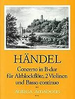 HAENDEL - Concierto en Sib Mayor para Flauta de Pico Alto (Flauta), 2 Violines y Piano (Maute)