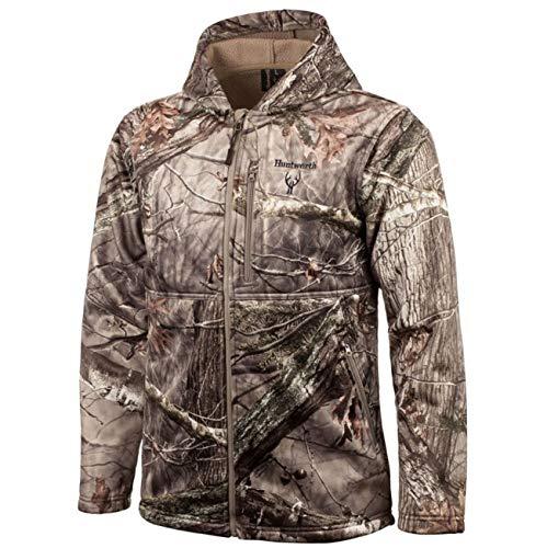 Huntworth Men's Heavy Weight Soft Shell Hunting Jacket, Hidden, Medium