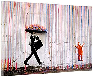 Arte Graffiti Pioggia colorata Stampe su tela Pittura Arte della parete Poster e stampe per la decorazione domestica Senza cornice 60x80cm senza cornice