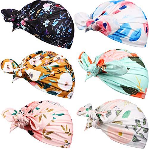Syhood 6 Sombreros Turbantes Gorro de Guardería con Nudo de Lazo para Bebés