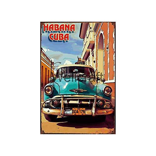 shovv Cartel de Chapa metálica Carteles de Chapa Vintage Tiki Bar Cuba Carteles De Pared De Verano Arte Pintura Vintage Personalidad Decoración-Sa-2487_30 * 20 Cm