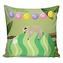 Happy Easter Throw Pillowcase Decor Covers
