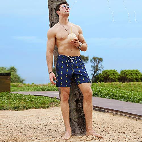 MaaMgic Short de bain pour homme à séchage rapide avec doublure en maille - - X-Large