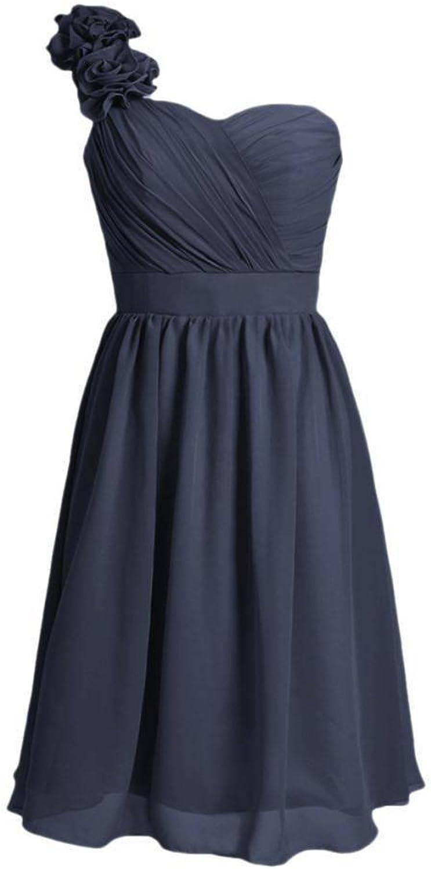 DaisyFormals® Short Beach Bridal Dress One Shoulder Bridesmaid Dress(BM102)