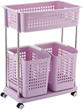 Multi Layer Plastic Storage Basket for Household Use (Color : Purple, Size : 56 * 34.5 * 72cm)