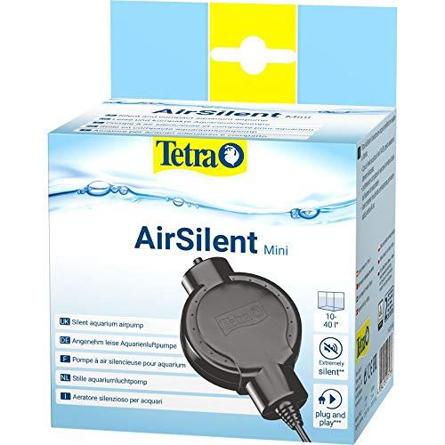 Tetra AirSilent Mini - leise Aquarium Luftpumpe, Komplettset inklusive Ausstömerstein, geeignet zur Versorgung mit Sauerstoff von Aquarien mit 10 - 40 L