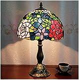 MISLD Luces Decorativas, Lámpara De Escritorio De Estilo Mediterráneo, Lámpara De Mesa Decoración por del Defecto para El Hogar, Estilo Tiffany Lámpara (280-4),