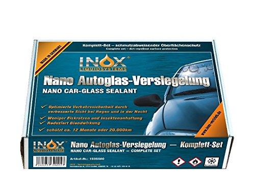 INOX® Nano Glasversiegelungs-Set - Schmutzabweisender Oberflächenschutz für die Autoscheibe
