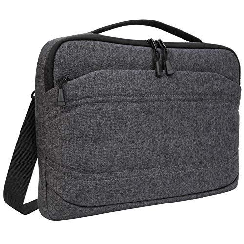 Targus Groove X2 schmale Tasche, vielseitige Laptoptasche 13 Zoll, wasserabweisende Umhängetasche für Notebooks, perfekt für Uni & Büro – Charcoal, TSS979GL