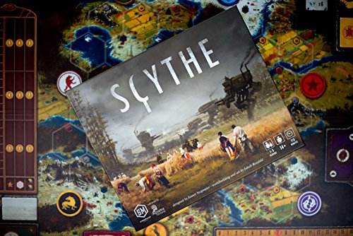 Stonemaier Games Scythe Board Game - An Engine-Building, Area Control for 1-5 Players, Ages 14+, Gray