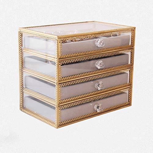 ZYS joyero Cajas para Caja de joyería para Mujeres Mostrar Polvo a Prueba de Polvo Joyas de Gran Capacidad para Pendiente Brazalete Collar y Anillos Caja de joyería Caja de Almacenamiento de Joyas