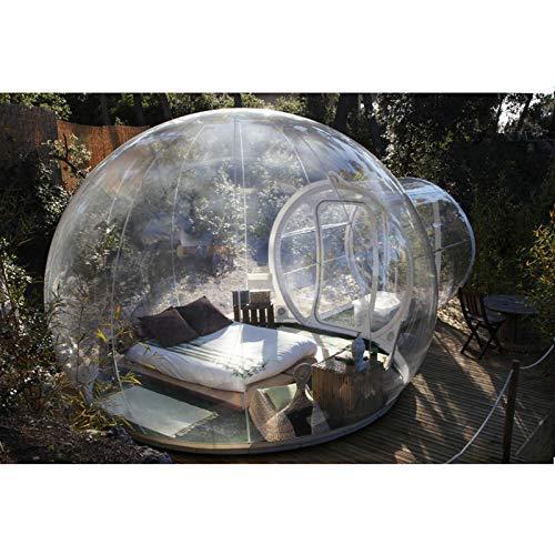 ESACLM Aufblasbares Blasenzelt im Freien mit Einem Tunnel Gewächshaus Pavillon Baldachin Camping Hinterhof Transparentes Zelt Großes übergroßes Wettergehäuse mit Gebläse,3M