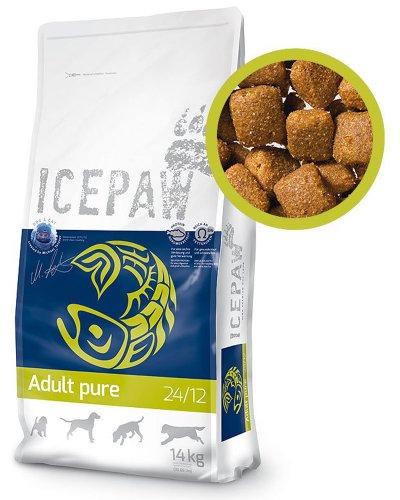 ICEPAW Adult Pure mit Fisch und Reis | glutenfreies Trockenfutter für ausgewachsene Hunde (1 x 14 kg)