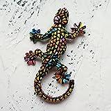 HUAYING 3D Español República Dominicana turismo conmemorativo lagarto Gecko imanes nevera etiqueta engomada para la decoración del hogar