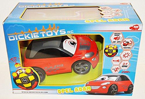 Dickie Toys 203814030 - RC Happy Opel Adam, ferngesteuertes Spielzeugauto mit Licht und Sound, für Kleinkinder ab 2 Jahren, 26,5cm
