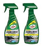 Turtle Wax 53033 Quick & Easy Waterless Car Wash & Care For Paint, Plastic, Wheels & Glass 2 x 500ml