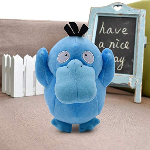 LEWIS1205 Animals Stuffed Pillow Lapras Jigglypuff Dragonite Snorlax Psyduck Ditto Squirtle Bulbasaur Charizard Togepi Cubone Plush Toy Soft Stuffed Doll-Shiny Psyduck