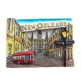Ximai Vue sur la Rue de la Nouvelle-Orléans Magnet Aimants Frigo Aimant de Réfrigérateur Tourisme États-Unis