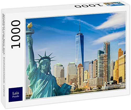 Lais Puzzle Paisaje Urbano de Nueva York, la Estatua de la Libertad, la Parte Baja del Horizonte de Manhattan 1000 Piezas