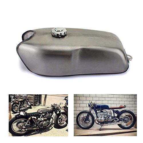 TARAZON 9L Universal Cafe Racer Motorrad Kraftstofftank Benzintank Tankdeckel Benzinhahn für Honda für Suzuki für Kawasaki für YAMAHA RD50 RD350 RD400 für BMW R100 R
