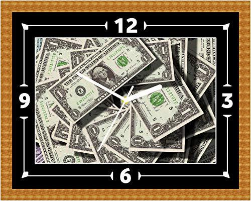 Dollar rekeningen (2) Klok cadeau cadeau Kerstmis Verjaardag Vaderdag (kan worden gepersonaliseerd)