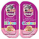 WHISKAS Perfect Portions Kitten Wet Cat Food Paté - Chicken Entrée 75g (24Pack)